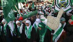 Palestinos partidarios de Hamas celebraron su primer acto en Cisjordania después de una prohibición de cinco años