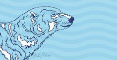 Polar Bear - 2014 [digital drawing]   More Artwork on MederMade.wordpress.com - Portfolio: KendraMeder.wordpress.com