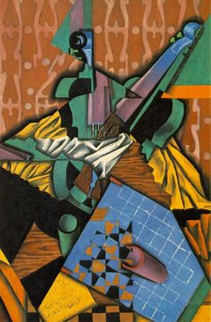Juan Gris – Photograph Of Violin And Checkerboard, 1913