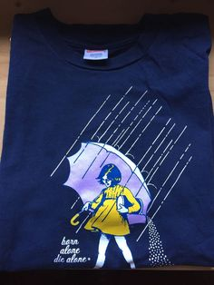 Supreme Morton Salt Born Alone Die Alone Tee T Shirt Navy Blue Medium M Box Logo #Navy #GraphicTee
