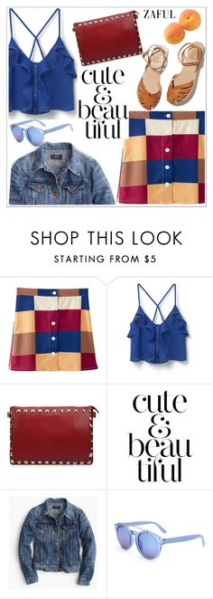 """""""Zaful"""" by teoecar ❤ liked on Polyvore featuring MANGO, Ancient Greek Sandals, J.Crew and zaful"""