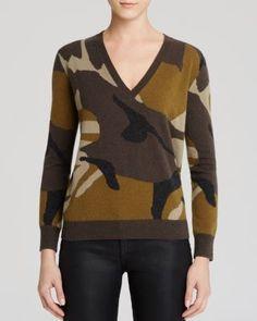 Burberry Brit Camo Intarsia Cashmere Sweater | Bloomingdale's