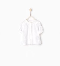 Image 1 of Crimped collar shirt from Zara