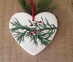Ceramic Heart Christmas Tree Ornament Christmas Decoration