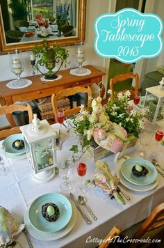 Spring Tablescape - Cottage at the Crossroads