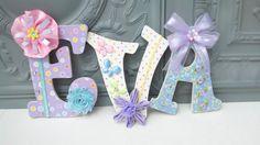 Decorative Custom Letters with Embellishments, Decorative letters, wall letters, nursery decor, nursery letter, embellished, Britta St. John...