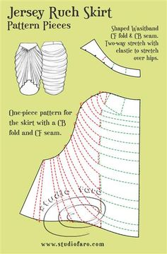 """All in one place! """"Stretch Skirt Block and Design Options""""   #PatternMakingClasses #SkirtBlock #StretchSewingPatterns"""