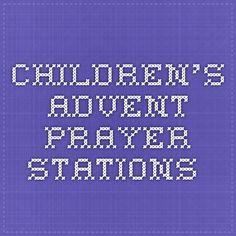 children's advent prayer stations.