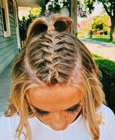 Easy to Manage: Bandana Style - 10 Cute and Easy Hairstyles for Short Hair - The Trending Hairstyle Pretty Hairstyles, Easy Hairstyles, Girl Hairstyles, Wedding Hairstyles, Hairstyle Ideas, Princess Hairstyles, Updo Hairstyle, Short Braided Hairstyles, School Hairstyles For Teens
