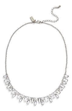 Free shipping and returns on kate spade new york 'catching light' frontal necklace at Nordstrom.com. Delicate marquise- and emerald-cut crystals create an elegantly jagged silhouette as they catch the light from every angle in a dazzling frontal necklace that adds plenty of sparkle to your look.