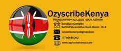 Transcription Training, Social Business, Business Organization, Kenya, Women, Woman
