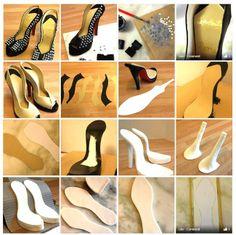 Tuto confection chaussure/escarpin avec patron chaussure à talon_1-2-3 et 4 de cake central