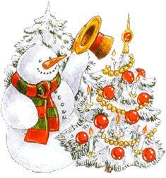Munecos de nieve gifs imagenes