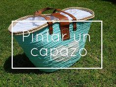 YouTube Beach Basket, Natural Rug, Chalk Paint, Diy Tutorial, Bag Making, Travel Bags, Decoupage, Decoration, Diy Crafts