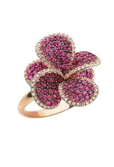 Amazon.com: Effy Jewlery Jardin Bloom Ruby and Diamond Ring 2.24 TCW Ring size 7: Jewelry