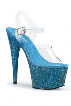 5c2885107978fb Buy Sexy Aqua Clear Glitter Platform High Heels with cheap price and high  quality Heel Shoes