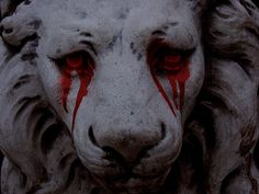 don't let others see you cry. for what's a lion without his mane