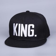 Shop Queen and King Snapback hat cap at 9th Wave. Adjustable Snapback closure. Lovers Hats. Free shipping. Item Type: Baseball Caps Department Name: Adult Brand Name: VORON Gender: Unisex Hat Size: On