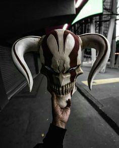 Bleach Ichigo's mask demon face Ichigo Hollow Mask, Character Art, Character Design, Oni Mask, Japanese Mask, Masks Art, Bleach Anime, Fantasy Weapons, Mask Design