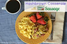 Cheesy Hashbrown Casserole with Sausage from Hillshire Farm