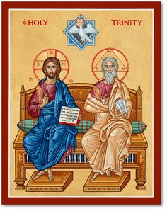 Take a moment to explore the Biblical icons of the great Feasts, like this Holy Trinity Icon, from Monastery Icons. Order yours today. Religious Images, Religious Art, Monastery Icons, Religion, Byzantine Icons, Catholic Art, Catholic Beliefs, Orthodox Icons, Sacred Art