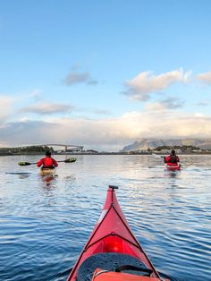 Kayaking towards Brønnøysund, Helgeland, Northern Norway by Hans Olav Elsebø
