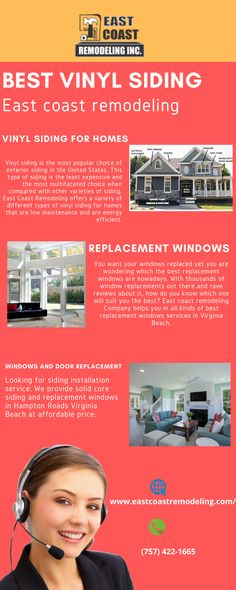 Looking for a siding installation service. We provide siding and replacement windows in Virginia Beach at affordable prices. Best Vinyl Siding, Best Replacement Windows, Types Of Siding, Window Company, House Siding, Warm In The Winter, Exterior Siding, Virginia Beach