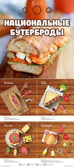 Готовить лень, но есть хочется? На помощь всегда придут бутерброды.  А, между прочим, в каждой стране их готовят по-разному. Предлагаем разнообразить своё меню и отведать что-то новенькое. Bon Appétit.