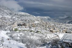 Karpenisi-Greece in winter Travel Around The World, Around The Worlds, Karpathos Greece, Places In Greece, Winter Travel, Greece Travel, Countries Of The World, Holiday Destinations, Beautiful Places