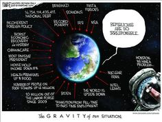 Houston we have a problem... Political Cartoons by Michael Ramirez