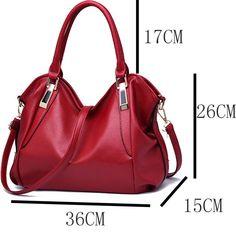 4 Color Fashion Designer Women Handbag Female PU Leather Bag Office Ladies  Portable Shoulder Bag Ladies Hobos BagTotes. Red BagsTypes Of ... 03bec4ad8a6cf