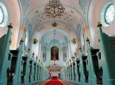 The Blue Church (St. Elisabeth's) - Bratislava, Slovakia. Can I have my wedding here? It's perfect for my colors!