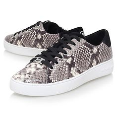 Buy MICHAEL Michael Kors Irving Lace Up Trainers, Grey Online at johnlewis.com
