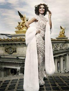 Stunning textured silver dress by Zuhair Murad