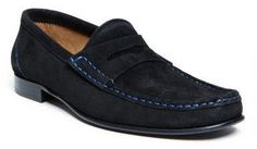 $86, Black Suede Loafers: Donald J Pliner Footwear Naper 23 Loafer. Sold by Amazon.com. Click for more info: http://lookastic.com/men/shop_items/99751/redirect