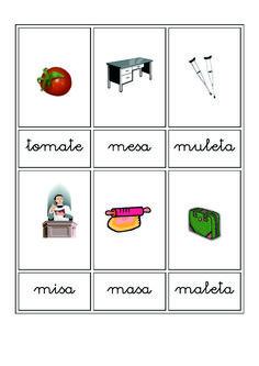 Fichas de vocabulario en imágenes | Escuela en la nube | Recursos para Infantil y Primaria Flashcard, Microsoft Word, Cambridge, Cali, Alphabet, Teaching Resources, Vocabulary Games