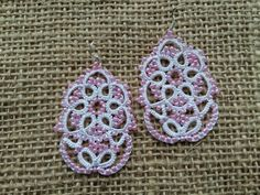 Lace earrings Nymphaeum by SvitLanu on Etsy