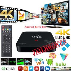 MXIII 2GB Ram Fully Loaded S812 OctoGPU 4K MX3 Gigabit Fastest TV box | eBay 2gb Ram, Android 4, Quad, Core, Tv, Television Set, Quad Bike, Television