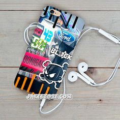 Ken Block Stickerbomb Blue iPhone Case 4 4s 5 5s 5c 6 6s Plus Hardcase