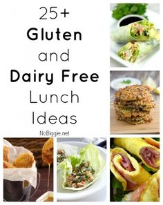 25+ Gluten and Dairy Free Lunch Ideas via NoBiggie.net Some great ideas here! I can't wait to try them!