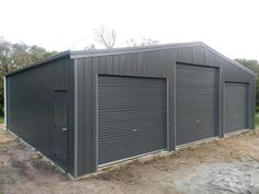 A recently completed shed, finished in #colorbond steel Wallaby with Woodland Grey trim. This beauty measures 10.5m x 9m #steel #australianmade #morningtonpeninsula #shed #victoria #australia #bluescope #aussiesteel