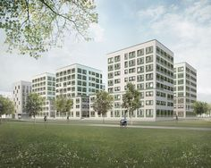 """Exterior visual - competition """"The Geistlich Area"""" by Schwarz Architects Architects, Competition, Multi Story Building, Exterior, Building Homes, Outdoors"""