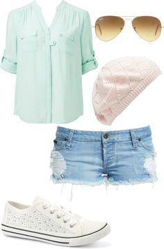 """Cute everyday outfit"" casual and has that perfect spring color"