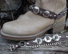 Western BOOTS BOOT CHAINS Brown W 3 1-inch Conchos Np                                                                                                                                                                                 More