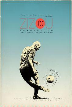 soccer and design: Zidane, Messi, Rooney, Pele, Becks, Baggio, etc (via zoran lucic - graphic designer)