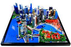 Singapore skyline faithfully represented in LEGO bricks