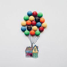 Les mélanges de dessins et de bonbons ou de snacks par Nady Nadhira  Dessein de dessin
