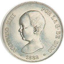 05 Pesetas. (1888)(*18-88) Madrid MP M - MBC