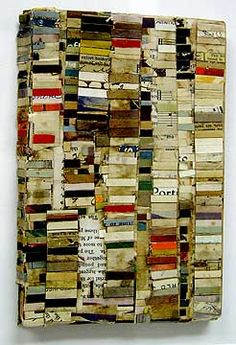 Lance Letscher - White Book 2002 Collage on Masonite