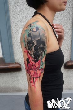 dynoz art.attack//alternative iris skull// done @mahakala.tattoo.studio/ravensburg/germany